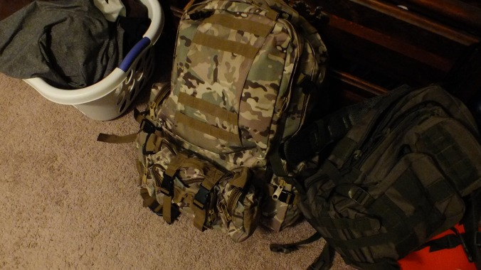 The new bag, with most of my gear transferred.