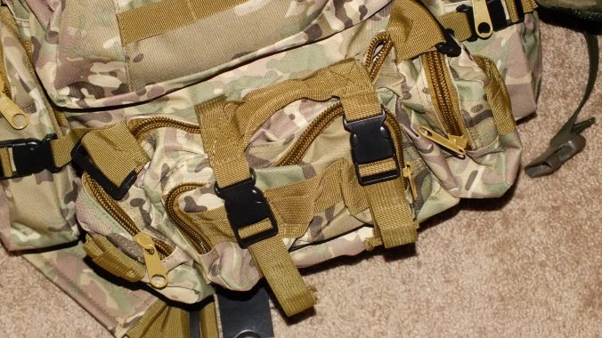 Central MOLLE compartment. This one can be rigged to run as a fanny pack if desired.